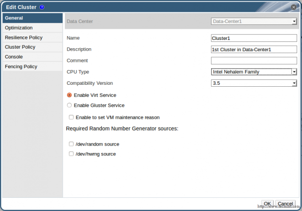 Configure Cluster for Data Center