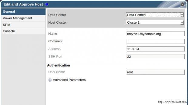 Configure Data Center and Cluster