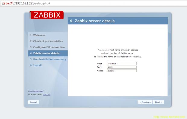 Configure Zabbix Server