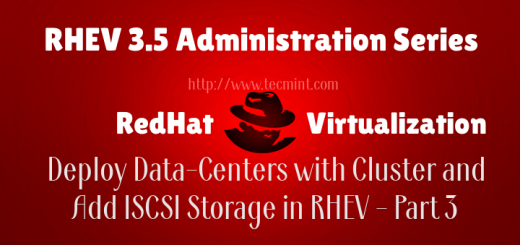Create Data-Centers and Cluster in RHEV