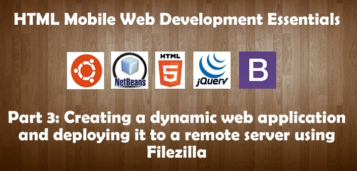Create HTML5 Applications and Deploy to Web Server