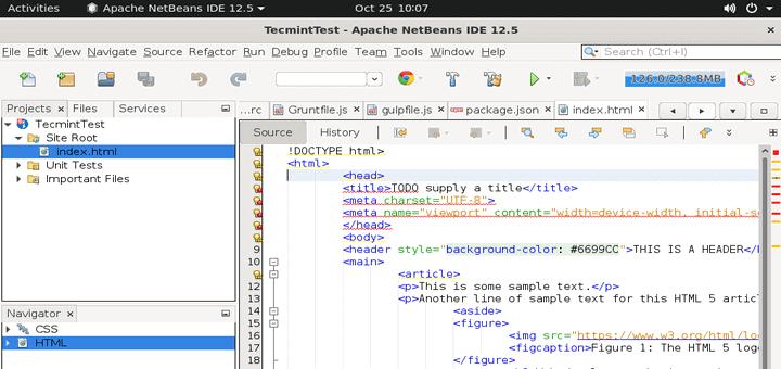 Create HTML5 Website in Ubuntu