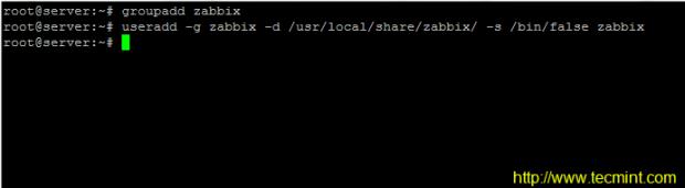 Create Zabbix User and Group