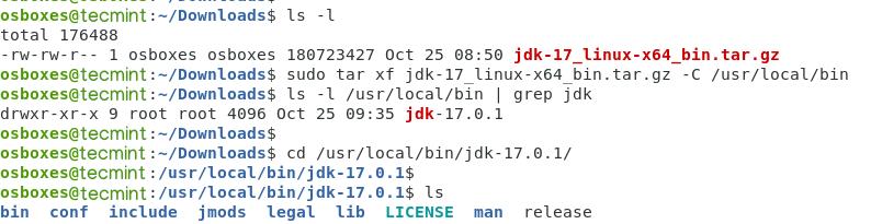 Extract Java JDK