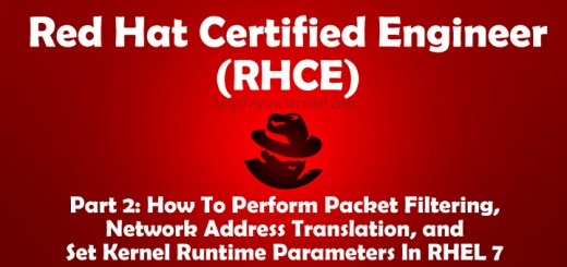 Network Packet Filtering in RHEL