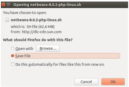 Save NetBeans Shell Script