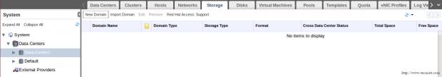 Select Storage Tab