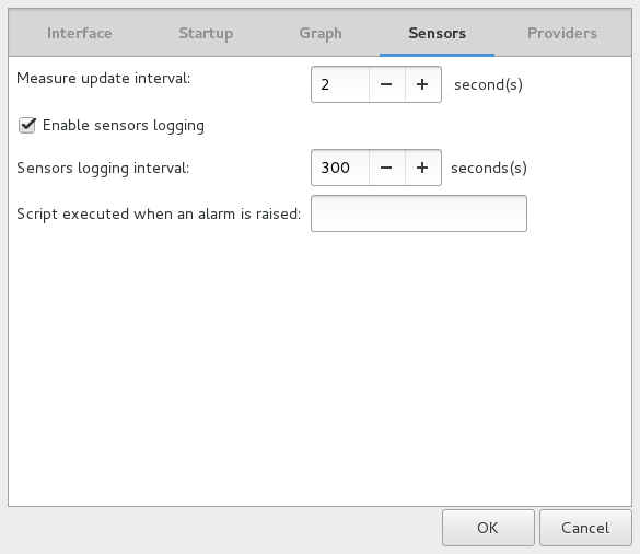 Psensor - A Graphical Hardware Temperature Monitoring Tool for Linux