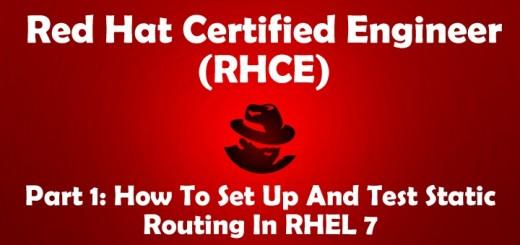 Setup Static Network Routing in RHEL