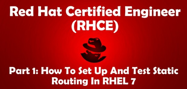Setup Static Network Routing in RHEL