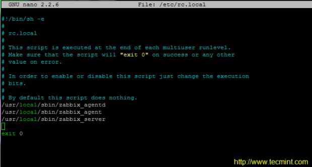 Start Zabbix System Boot