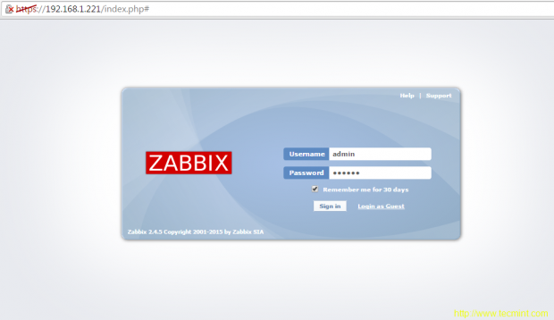 Zabbix Login
