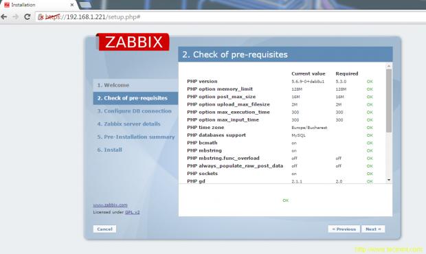 Check Zabbix Pre-Requisites