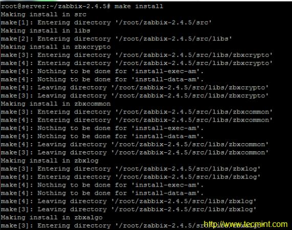 Zabbix Source Installation
