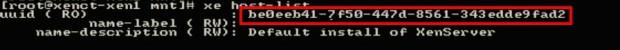 Check XenServer UUID