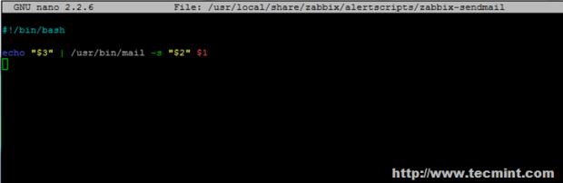 Configure Sendmail Zabbix