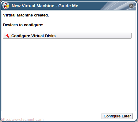 Configure Virtual Disks