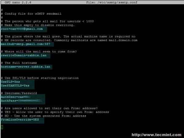 Configure Zabbix Email Alerts