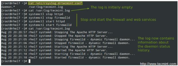 Linux Create Custom Log File