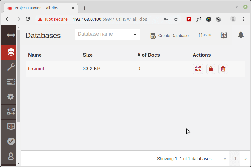 Create Database in Couchdb