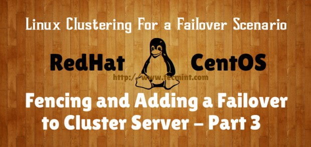 Fencing and Add Failover to Cluster
