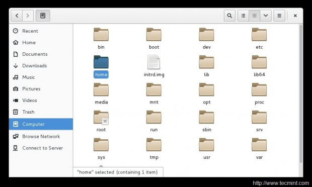 File Browser on Gnome