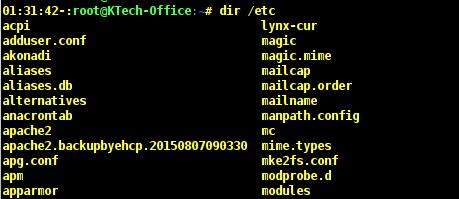 List /etc Directory