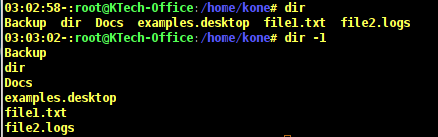 List Files per Line