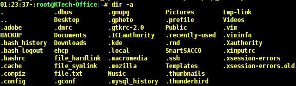 List Hidden Files