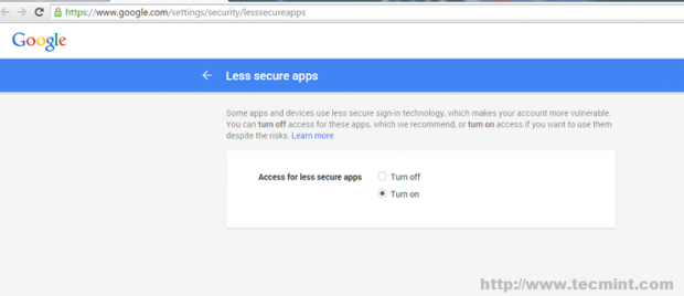 Manage Secure Gmail Apps