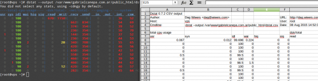 Monitor Linux Statistics Output