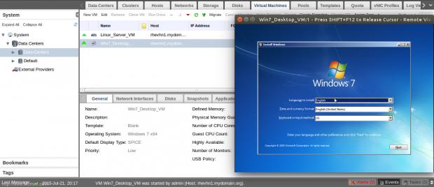 Open Windows VM Console