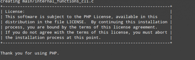PHP 7 Configuration Successful