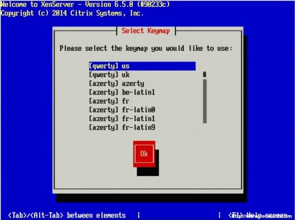 Select XenServer Installation Language