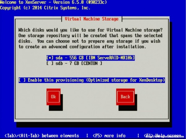 Select XenServer Virtual Machine Storage
