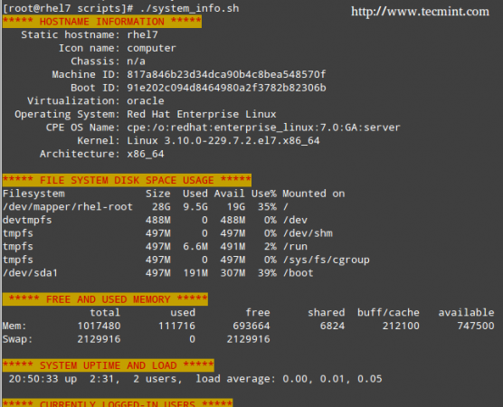 Server Monitoring Shell Script