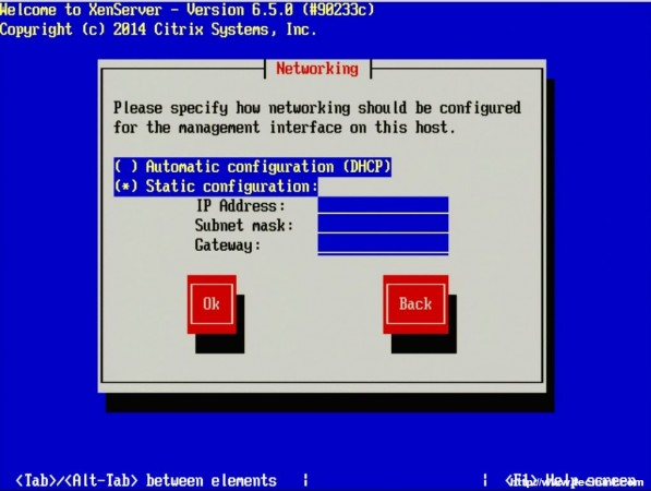 Set XenServer IP Address