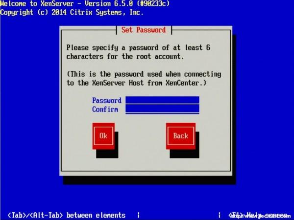 Set XenServer Root Password