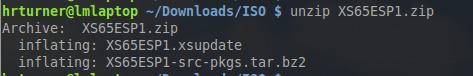 Unpack Xen Patch Update