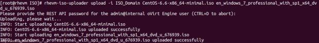 Upload Files ISO Domain