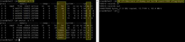 VmStat Linux Disk Performance Monitoring