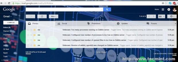 Zabbix Monitoring Mail Alerts