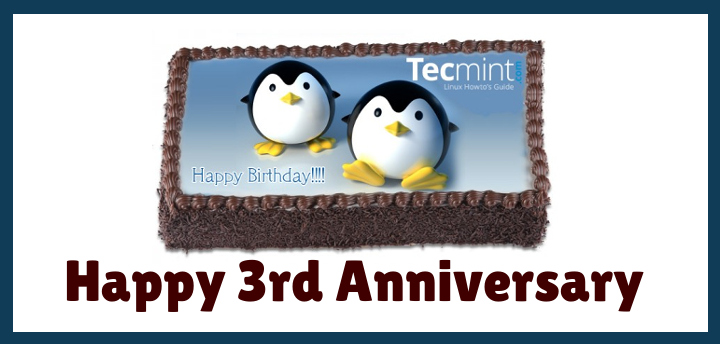 Celebrating: TecMint 3rd Anniversary