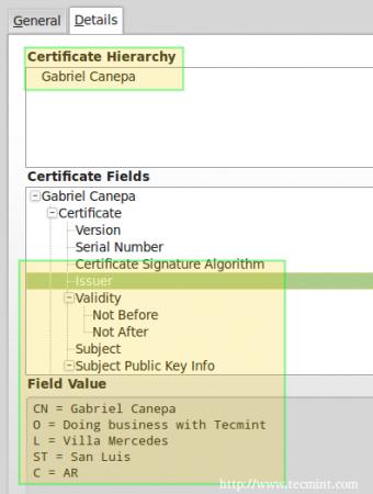 Confirm Apache SSL Certificate Details