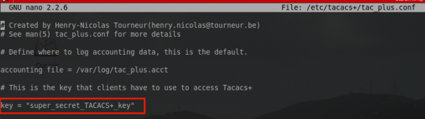 Create Tacacs Key