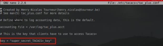 Create Tacacs Key