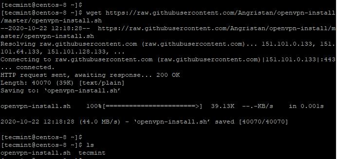 Download OpenVPN Script