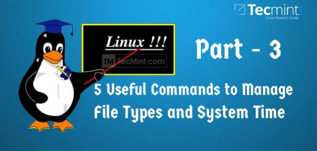 Manage File Types and Set Time in Linux
