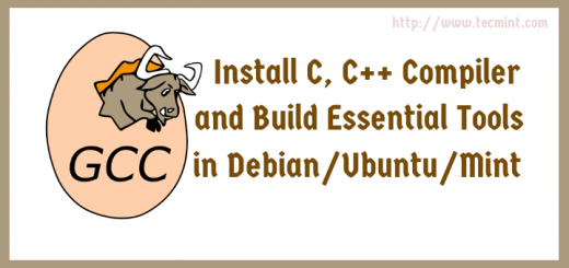Install C, C++ Compiler and Build Essential Tools