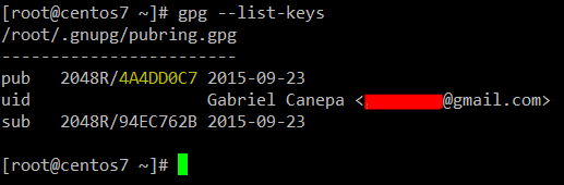 List Generated GPG Keys